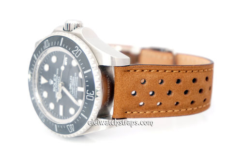 Rolex DeepSea Rally Perforated Leather Strap