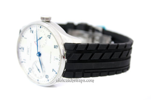 IWC Portuguese Tyre Tread Curved Lugs Rubber Watch Strap