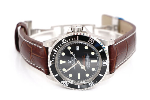 Rolex Sea-Dweller Alligator Grain Padded Leather Watch Strap