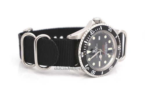 Rolex Red Sea-Dweller G10 Ballistic Heavy Duty Black Nylon NATO Strap