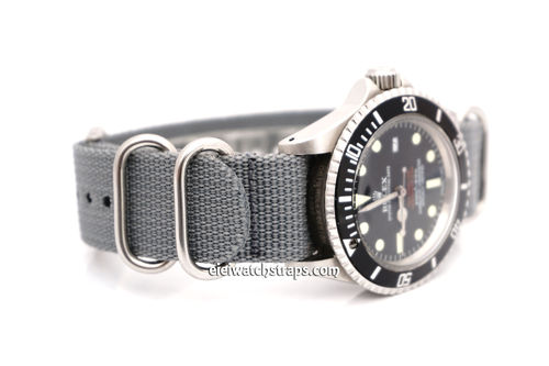 Rolex Red Sea-Dweller G10 Ballistic Heavy Duty Gray Nylon NATO Strap