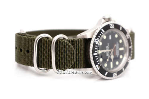 Rolex Red Sea-Dweller G10 Ballistic Heavy Duty Green Nylon NATO Strap