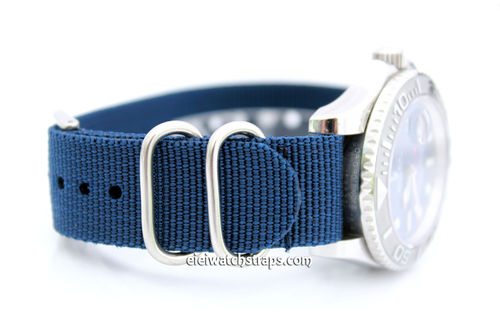 Rolex Red Sea-Dweller G10 Ballistic Heavy Duty Blue Nylon NATO Strap
