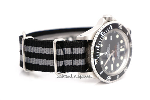 Military Black Gray G10 NATO Nylon Watch strap Stainless Steel Fittings
