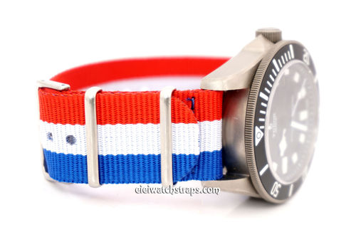G10 Ballistic Heavy Duty French Flag Nylon NATO Strap