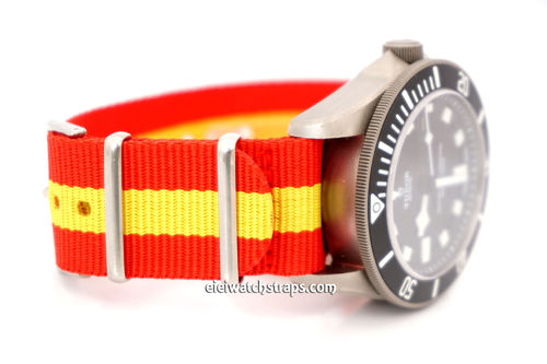 G10 Ballistic Heavy Duty Spain Flag Nylon NATO Strap