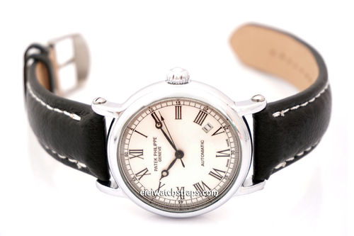 Patek Philippe Black Leather Watch Strap