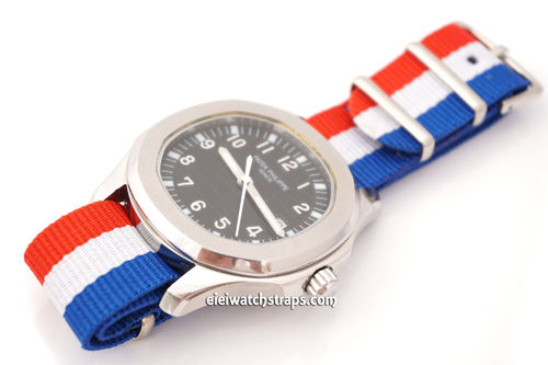Patek Philippe Flag of France NATO Watch Strap