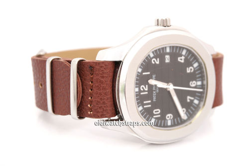 Patek Philippe NATO Brown Leather Watch Strap