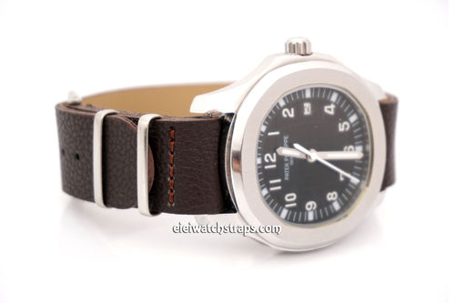 Patek Philippe NATO Coffee Brown Leather Watch Strap