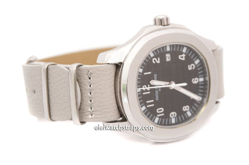 Patek Philippe NATO Gray Leather Watch Strap