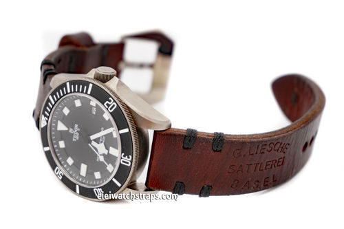 Basel Handmade Vintage style Ammo Watch Strap For Tudor Watches