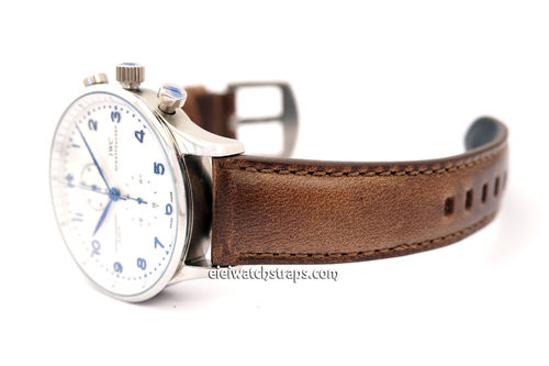 IWC Portuguese Padded Chromexcel Brown Horween Leather Watch Strap