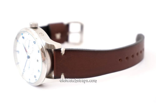 Handmade Vintage Brown Watch Strap For IWC Portuguese