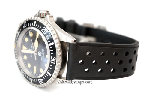Perforated Natural Rubber Watch Strap For Steinhart Watches
