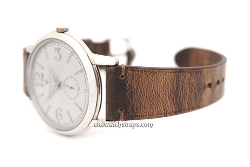 Handmade Vintage Brown Horween Rowdy Watch Strap For Vacheron Constantin