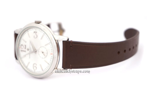 Handmade Vintage Brown Leather Watch Strap Vacheron Constantin