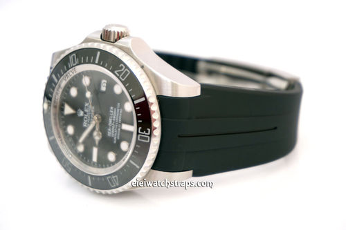 Rolex DeepSea Rubber B watch straps with Deployment Clasp For Rolex Watches