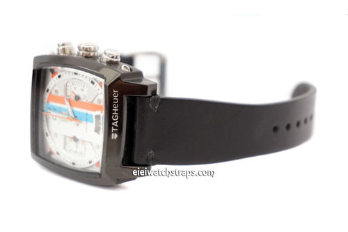 Handmade Vintage Racing Back Leather Watch Strap For TAG Heuer Monaco