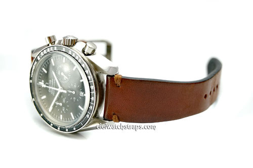 "OMEGA Speedmaster Professional ""Moonwatch Vintage Racing Brown Leather Watch Strap"