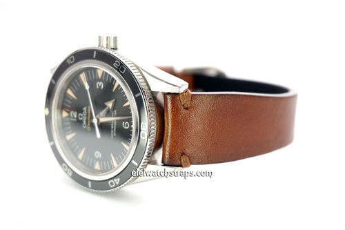 "OMEGA Seamater Professional ""Moonwatch Vintage Racing Brown Leather Watch Strap"