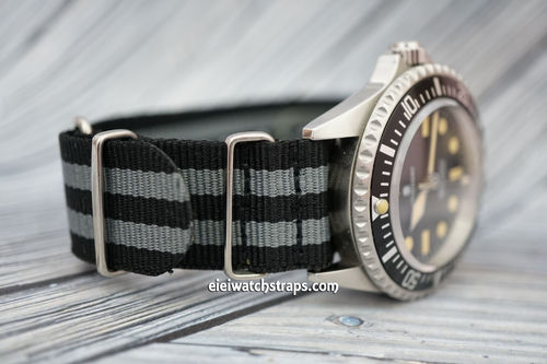 Military Black Gray G10 NATO Nylon Watch strap Stainless Steel Fittings For Steinhart Watches