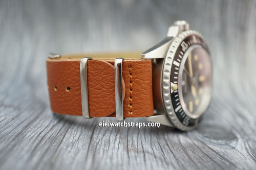 NATO Brown Leather Watch Strap For Steinhart Watches