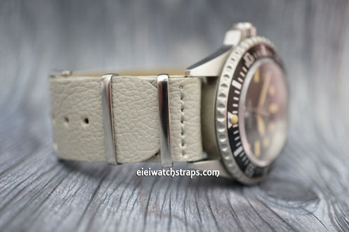 NATO Gray Leather Watch Strap For Steinhart Watches