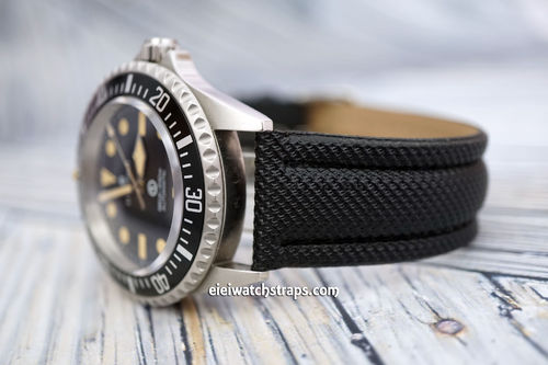 Steinhart Ocean Vintage Military 22mm Black Polyurethane Waterproof Watch Strap