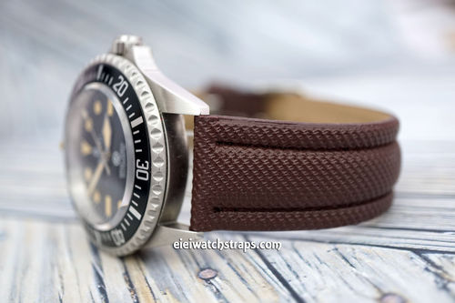 Steinhart Ocean Vintage Military 22mm Brown Polyurethane Waterproof Watch Strap