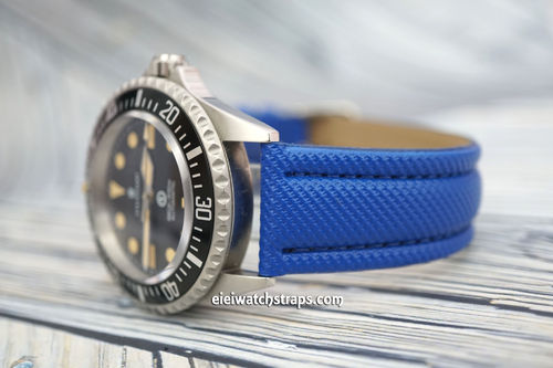 Steinhart Ocean Vintage Military 22mm Blue Polyurethane Waterproof Watch Strap