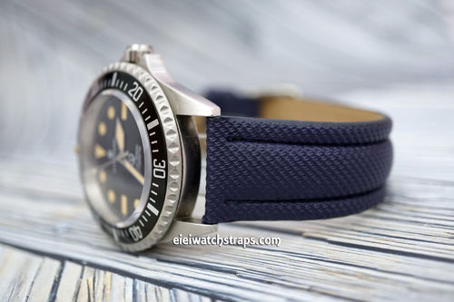 Steinhart Ocean Vintage Military 22mm Navy Blue Polyurethane Waterproof Watch Strap