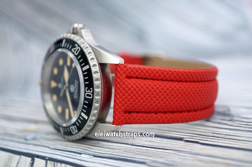 Steinhart Ocean Vintage Military 22mm Red Polyurethane Waterproof Watch Strap