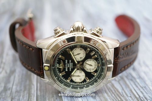BREITLING Chronomat Handmade Brown Alligator Watch Strap
