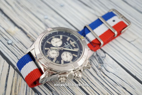 Breitling Professional G10 Ballistic Heavy Duty French Colour Nylon NATO Strap
