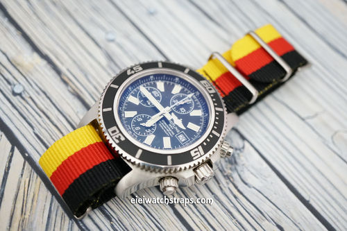 Breitling Professional G10 Ballistic Heavy Duty Germany Colour Nylon NATO Strap
