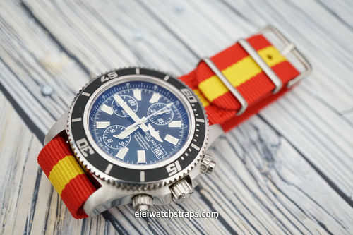 Breitling Professional G10 Ballistic Heavy Duty Spain Colour Nylon NATO Strap