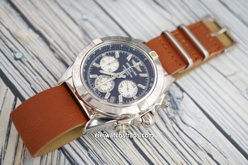 Breitling Professional NATO Brown Leather Watch Strap