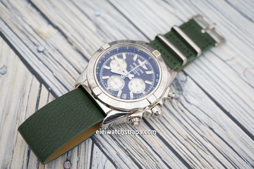 Breitling Professional NATO Green Leather Watch Strap