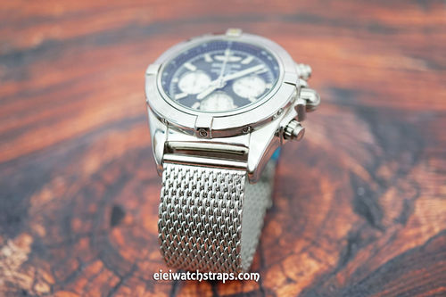 Breitling Professional Stainless Steel Mesh Bracelet Tang Buckle
