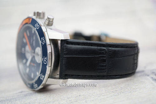 IWC Aquatimer Black Crocodile Leather Watch Strap