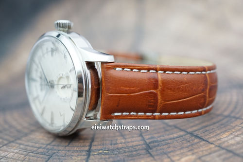 Seiko Cocktail 20mm Classic Crocodile Grain Leather Watch Strap