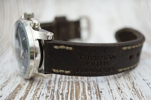 Montblanc Potter Hand Made Vintage style Ammo Leather Watch Strap
