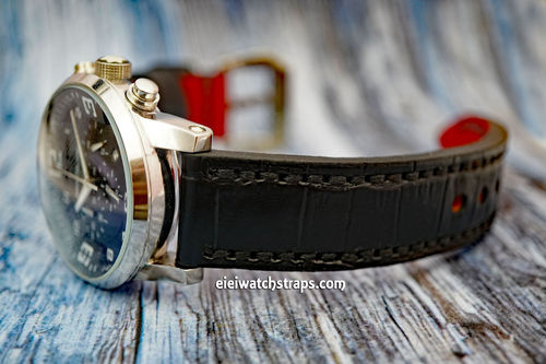 Montblanc Handmade Black Alligator Watch Strap