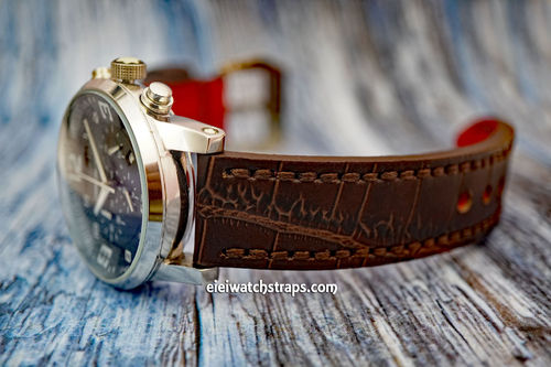 Montblanc Handmade Brown Alligator Watch Strap