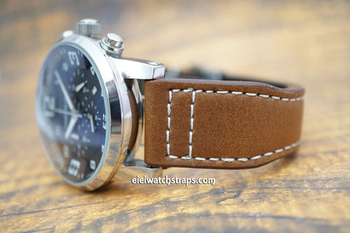 Montblanc Aviator Brown Leather Watch Strap