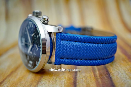 Montblanc Blue Polyurethane Waterproof Watch Strap