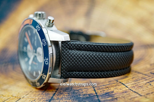 IWC Aquatimer Black Polyurethane Waterproof Watch Strap
