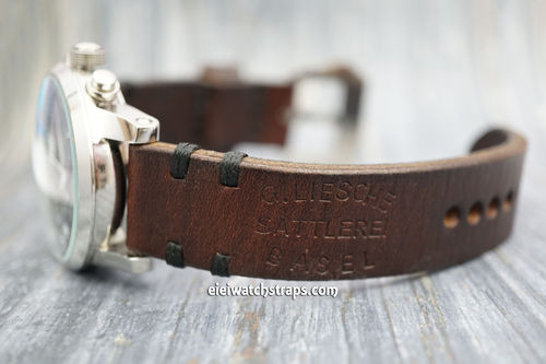 Montblanc Montblanc Basel Handmade Vintage Style Ammo Watch Strap