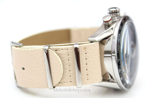 TAG Heuer CARRERA NATO White Leather watch strap